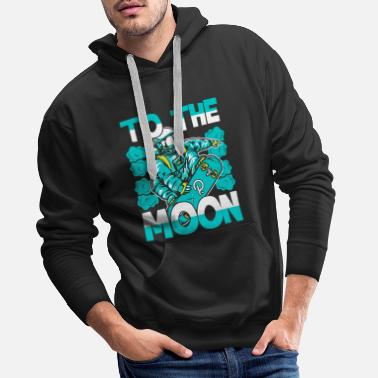 To The Moon Polkadot DOT Cryptocurrency Fan - Männer Premium Hoodie