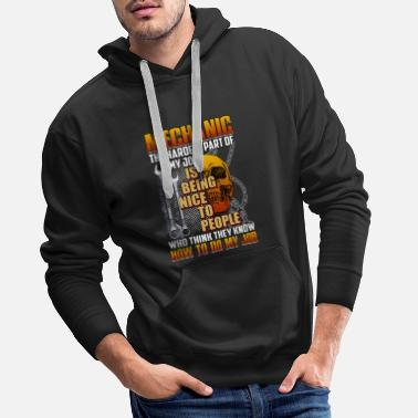 Think Pink Mechanic Being Nice To People Who Think They Know - Männer Premium Hoodie