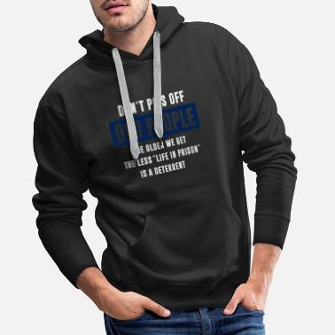 Old School Rap People The Older We Get The Less Life In Prison - Men's Premium Hoodie