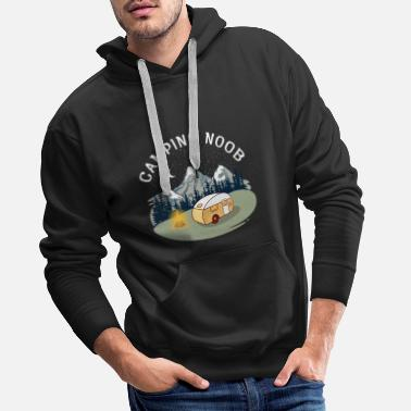 To Camp Camping Noob, Newbie, Camper, RV, Mountain - Men's Premium Hoodie