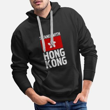 Stand With Hong Kong Flag Shirts Pro Democracy Tee - Men's Premium Hoodie