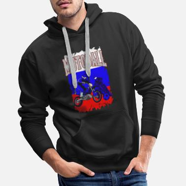 Cross Motoball Russia Motocross Moto Ball Gift - Men's Premium Hoodie