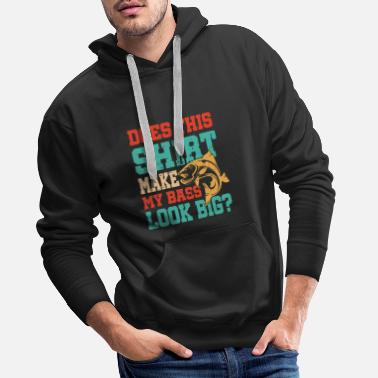 Ice Bass Shirt Pun Fishing Apparel Funny Fish Gift - Men's Premium Hoodie