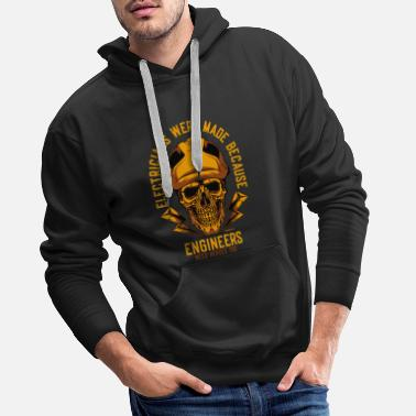 Hipster Electrician electrician gift - Men's Premium Hoodie