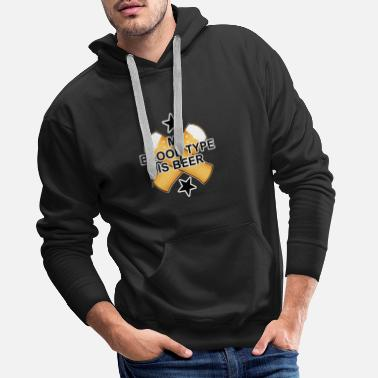 Glass Blood type beer - Men's Premium Hoodie