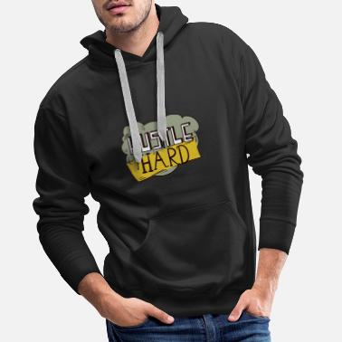 Get Rich Hustle hard. Clean Sculpting. Rank Lotzen. To give gas. - Men's Premium Hoodie