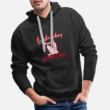 longboarding is my life - Men's Premium Hoodie