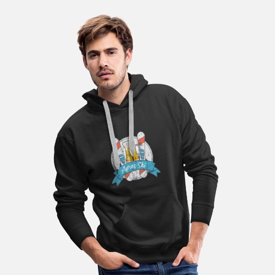 Ski Hoodies & Sweatshirts - Apres ski party Hüttengaudi beer skiing holiday celebrations - Men's Premium Hoodie black
