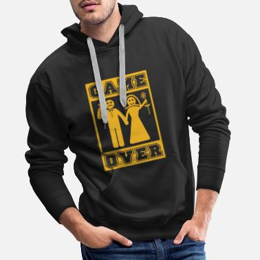Game Over Game Over Marriage Off and Over Spell - Men's Premium Hoodie