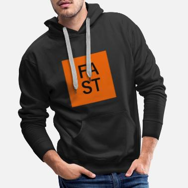 Orange Fast - Sweat à capuche premium Homme