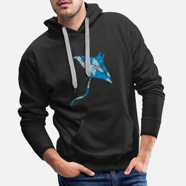 Tear tears scratches used stingrays swim diving - Men's Premium Hoodie