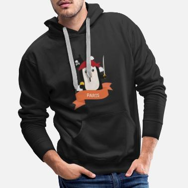 Adventure Pirate Pinguin from PARIS Gift - Men's Premium Hoodie