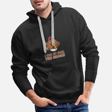 Chicken Chicken Cute Funny Adorable Rooster Hen Cock - Men's Premium Hoodie