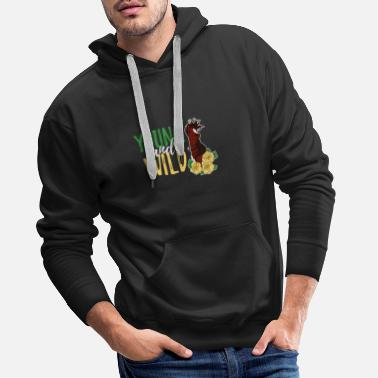 Donkey Young And Wild Girl Women Roses Pony Mantra - Men's Premium Hoodie
