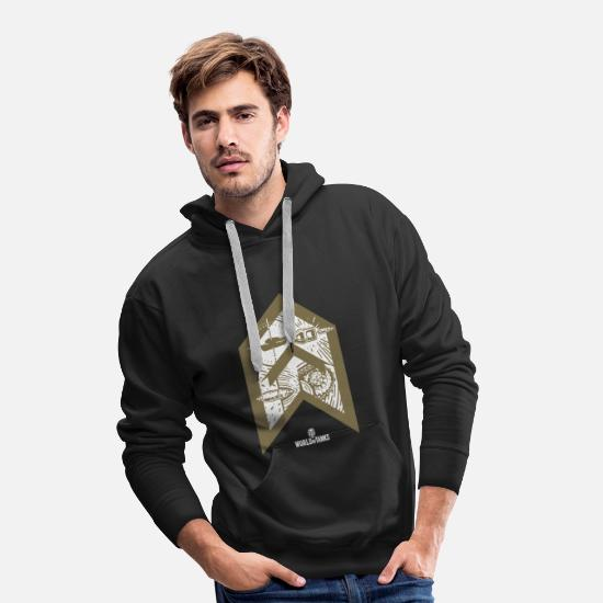 World Of Tanks Hoodies & Sweatshirts - World of Tanks Bootcamp Targeting - Men's Premium Hoodie black