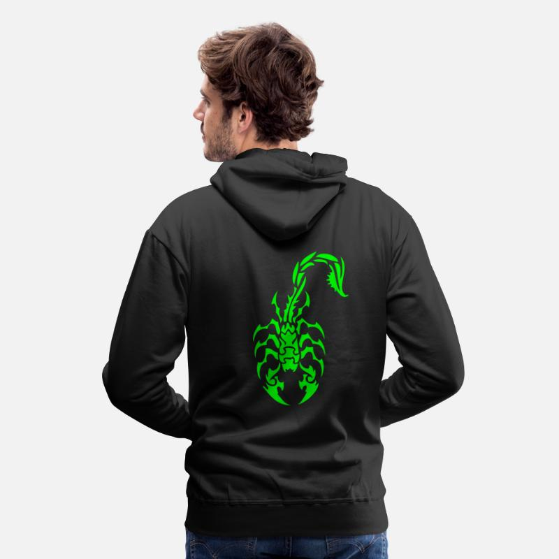 Scorpion Hoodies & Sweatshirts - Tribal Scorpion - Men's Premium Hoodie black