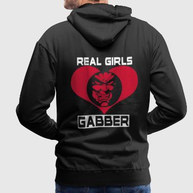 Real Girls Love Gabber Hoodies & Sweatshirts - Men's Premium Hoodie