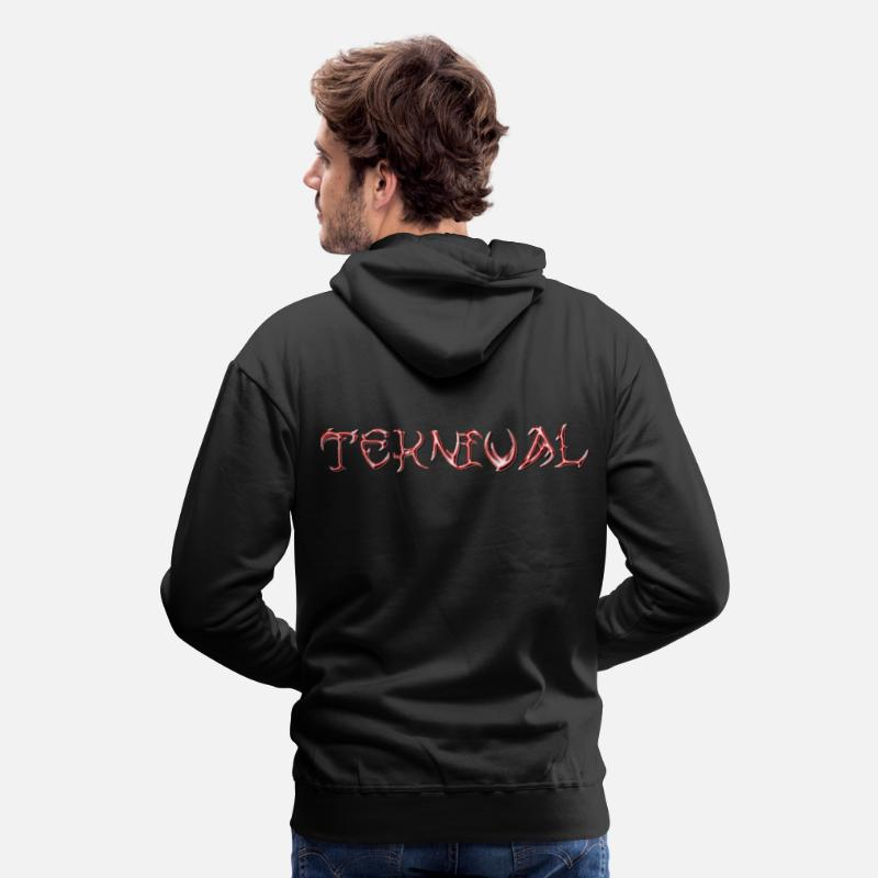 Rave Hoodies & Sweatshirts - teknival - Men's Premium Hoodie black