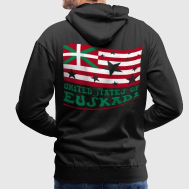 United States of Euskadi 2 Vecteur - Sweat-shirt à capuche Premium pour hommes