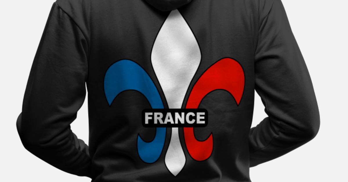 bc6e8c68270c3 france - fleur de lys Sweat à capuche premium Homme   Spreadshirt