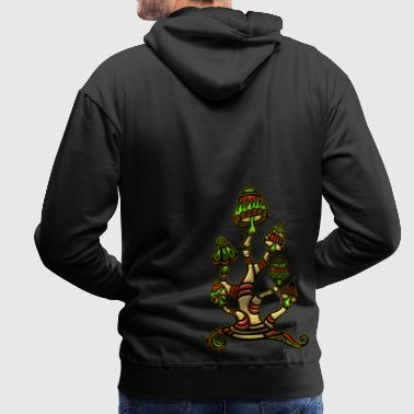 Magic mushrooms, paddo`s - Mannen Premium hoodie