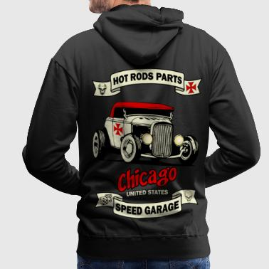 old racing car 3 - Sweat-shirt à capuche Premium pour hommes
