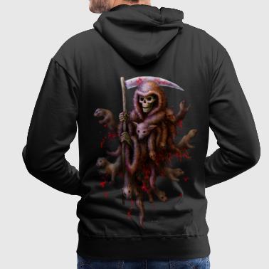 Death loves Fur (girl) - Männer Premium Hoodie