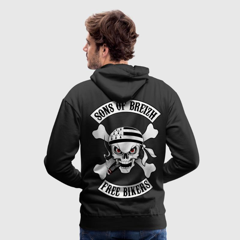 sons of breizh bikers N°2 - Sweat-shirt à capuche Premium pour hommes