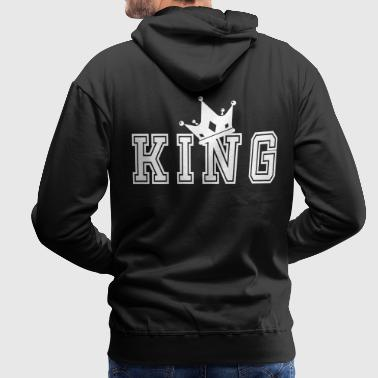 Valentine's Matching Couples King Crown Jersey - Herre Premium hættetrøje