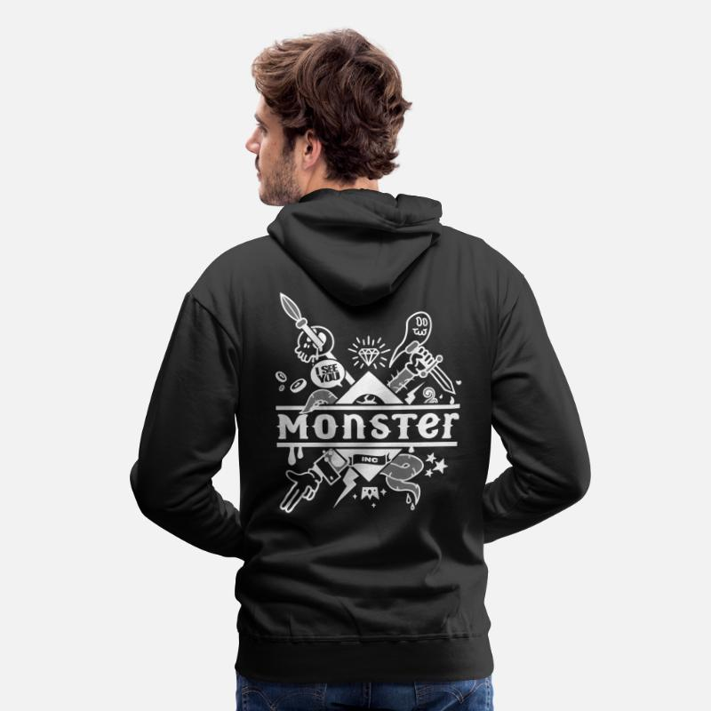 Monster Sweat-shirts - monster - Sweat à capuche premium Homme noir