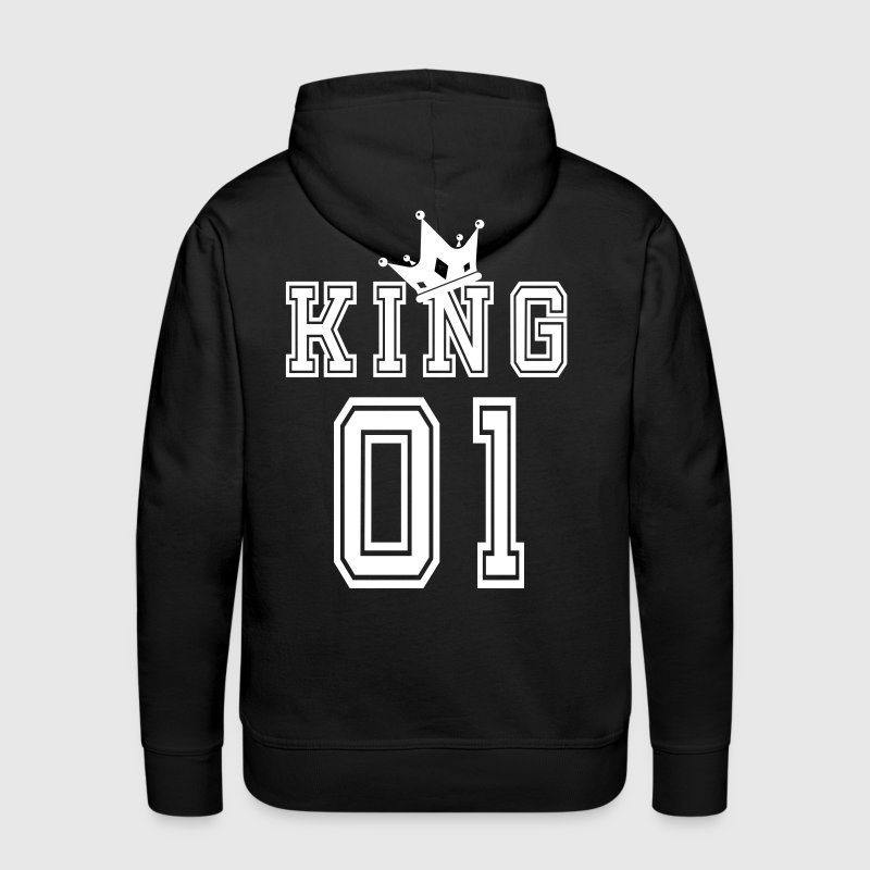 Valentine's Day Matching Couples King Jersey - Men's Premium Hoodie