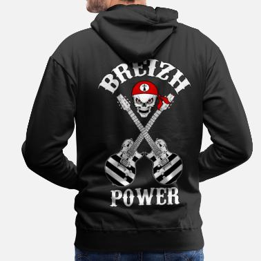 Celtic Breizh Rock'n'Roll power 01 - Sweat-shirt à capuche Premium pour hommes