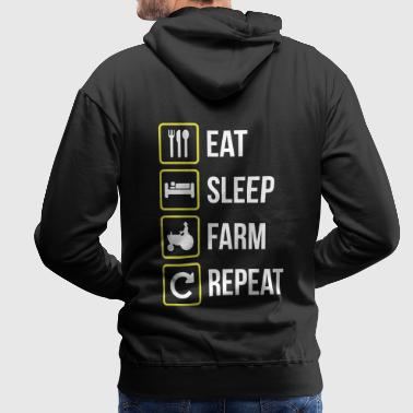 Eat Sleep Farm Repeat - Men's Premium Hoodie