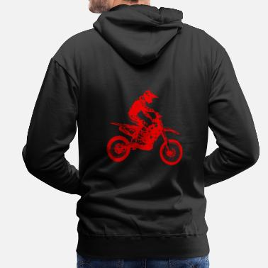 Trial enduro red - Men's Premium Hoodie