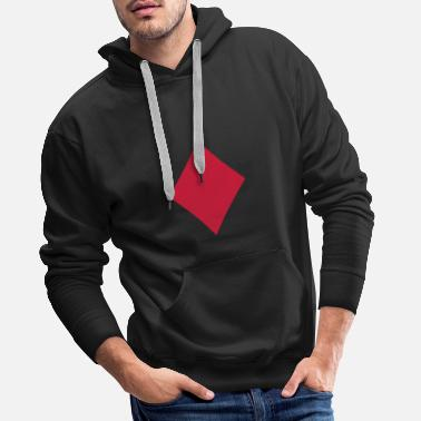 Carreaux Carreau - Sweat-shirt à capuche Premium pour hommes