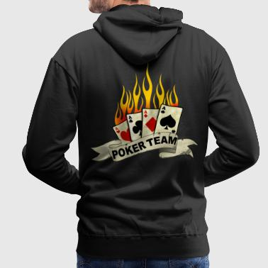 Poker Team 10 - Sweat-shirt à capuche Premium pour hommes