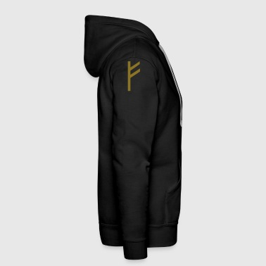 Rune Fehu - luck, prosperity & personal power - Men's Premium Hoodie