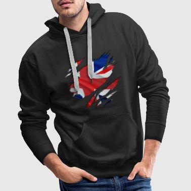 The Union Flag under the shirt! - Men's Premium Hoodie