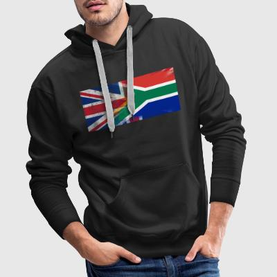 British South African Half South Africa Half UK Fl - Men's Premium Hoodie