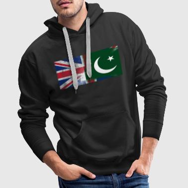 British pakistanske Half Pakistan Half UK Flag - Premium hettegenser for menn
