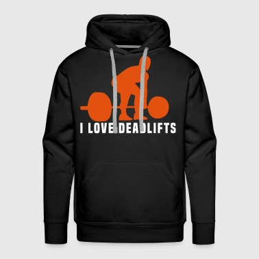 i love deadlifts - Men's Premium Hoodie