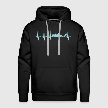 Heartbeat wakeboarder shirt wakeboarding gift - Men's Premium Hoodie