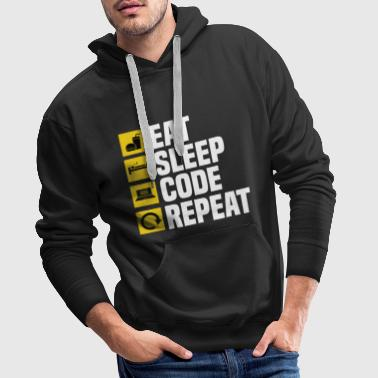 Eat Sleep Code Repeat! - Men's Premium Hoodie