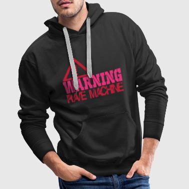 warning rave machine - Men's Premium Hoodie