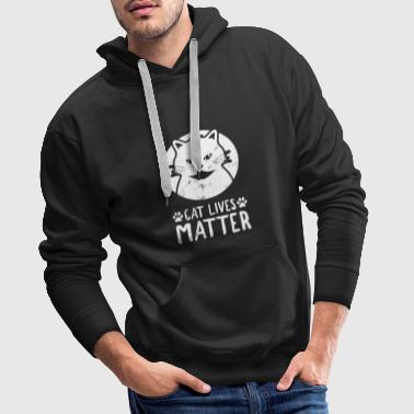 Funny Cat Lives Matter Animal Rescue Kitty Paw - Felpa con cappuccio premium da uomo