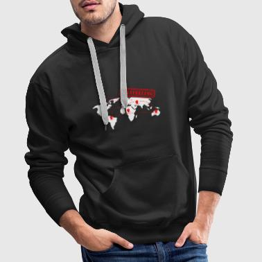 Wanderlust vacation travel map globe world travel vacation - Men's Premium Hoodie