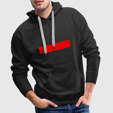 Red bar - Men's Premium Hoodie