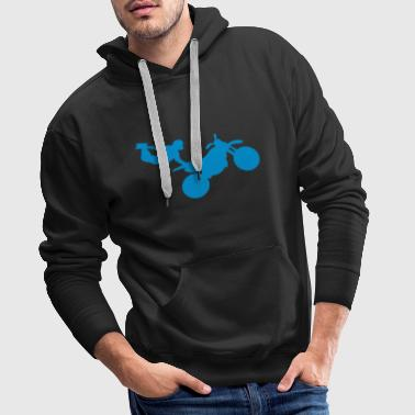 motorcycle12 cross freestyle moto1 - Sweat-shirt à capuche Premium pour hommes