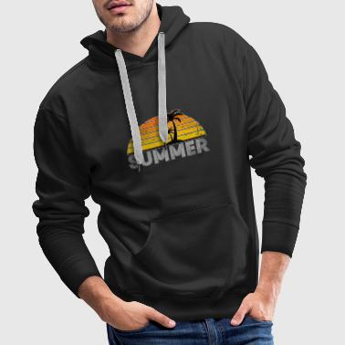 Summer Summer Palm Tree Gift Beach Sun Seagull - Men's Premium Hoodie
