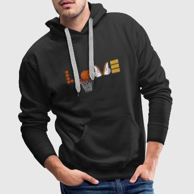 Love Basketball Sport Slam Dunk Fan Ball Korb - Männer Premium Hoodie